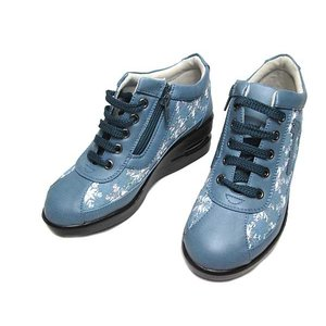 旅日和 TABIBIYORI TB-17939 ワイズ3E 厚底レースアップシューズ ライトブルー レディース 靴|nws