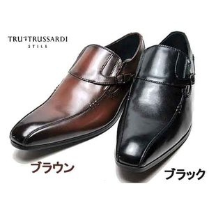 トゥルー トラサルディ TRU TRUSSARDI スワールモカ モンクスリッポンタイプ ビジネスシューズ メンズ 靴 nws