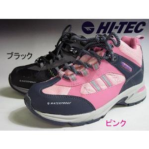 HI-TEC ハイテック HT TRJ606 WP レディース・ジュニア アウトドア カラーブラック・ピンク【靴】 nws