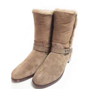 トラサルディ TRUSSARDI 折り返しファーミディアムジョッキーブーツ カーキ レディース・靴|nws