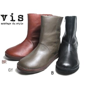 ビス vis プレーントゥ ショートブーツ レディース 靴|nws