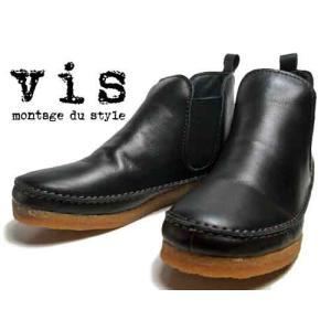 ビス Vis サイドゴアアンクルブーツ ブラック レディース・靴 nws