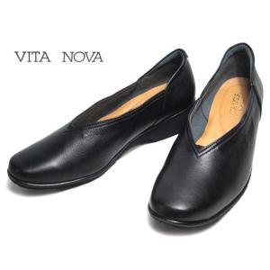 ヴィタノーヴァ VITA NOVA 8360 軽量Vカットシューズ ブラック レディース 靴|nws