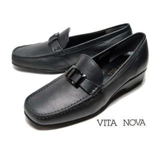 ビタノバ VITA NOVA カジュアルバックルローファー クロスムース レディース 靴|nws