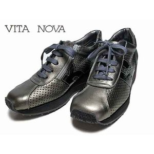 ビタノバ VITA NOVA ウェッジソール パンチングレザーレースアップシューズ エタンコンビ レディース 靴|nws