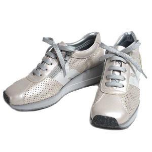 ビタノバ VITA NOVA ウェッジソール パンチングレザーレースアップシューズ PベージュC レディース 靴|nws