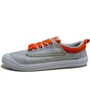 ボレー Volley キャンバススニーカー グレーオレンジ メンズ レディース 靴|nws