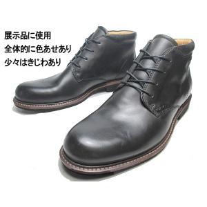 わけあり商品 エコー ECCO FINDLAY チャッカブーツ ブラック 25.5cm メンズ 靴|nws