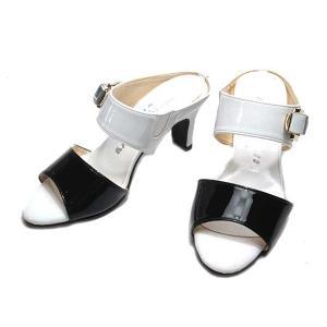 【わけあり商品】ミッシー デ ミッシー missy des missy ベルトデザインミュール ブラックコンビ レディース 靴|nws