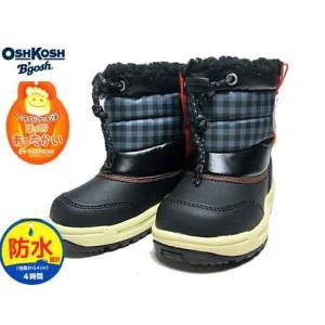 オシュコシュ OSHKOSH B'gosh OSK WC151SP ウインターブーツ スパイク付き ブラック キッズ 靴|nws