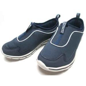 スポルディング SPALDING ふわふわインソール スリッポン ネービー スニーカー メンズ 靴|nws