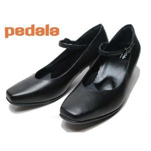 アシックス ペダラ asics PEDALA ストラップパンプス 2E ブラック レディース 靴|nws