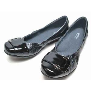 アシックス ペダラ  asics Pedala バックルデザインウォーキングパンプス ブラック レディース・靴|nws