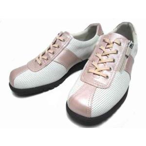 アシックス ペダラ  asics Pedala レースアップウォーキングシューズ オフホワイト/ピンク レディース・靴|nws