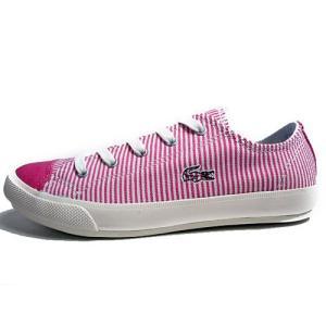 ラコステ LACOSTE フェアバーン W6 キャンバススニーカー ピンク レディース 靴|nws