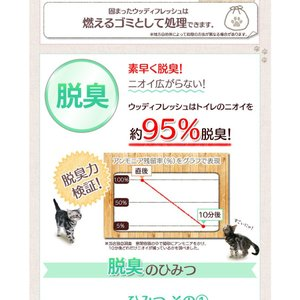 ≪タイムセール≫ 猫砂 アイリスオーヤマ 木の猫砂 7L×4袋 ウッディフレッシュ WF-70 ネコ砂 猫用品 猫トイレ|nyanko|06