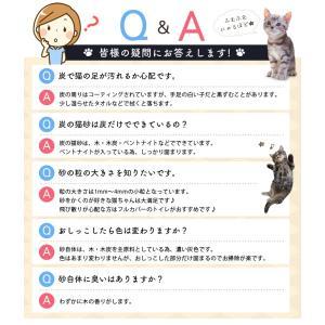 (タイムセール) 炭の猫砂 7L×4袋 アイリスオーヤマ 猫砂 炭 固まる 燃える おすすめ ペットトイレ あすつく|nyanko|11