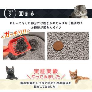 (タイムセール) 炭の猫砂 7L×4袋 アイリスオーヤマ 猫砂 炭 固まる 燃える おすすめ ペットトイレ あすつく|nyanko|07