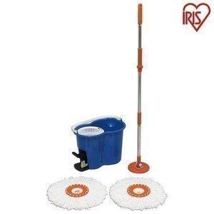 回転モップ モップ 掃除 掃除用品 モップ アイリスオーヤマ ペット フローリング 畳 床 バケツ 水拭き 絞り機 モップクリーナー回転モップ KMO-450:予約品|nyanko