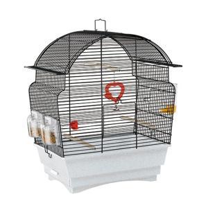 ロザ 52015817 ブラック ファンタジーワールド ( 鳥用 バード カナリア インコ 鳥かご ケージ )|nyanko