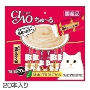 CIAO ちゅ〜る まぐろ 海鮮ミックス味 20本入り SC...