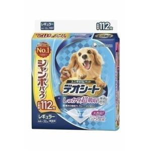犬用 ペットシート ペットシーツ デオシート しっかり超吸収 無香消臭タイプ レギュラー112枚 ユ...