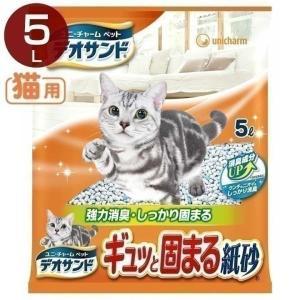 猫砂 デオサンド ギュッと固まる紙砂5L ユニ・...の商品画像