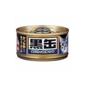 アイシア 黒缶 ミニ かつお節入りまぐろとかつおD キャットフード 成猫用|nyanko