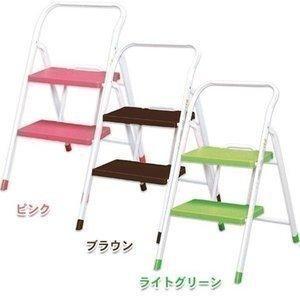 折りたたみステップ 2段 OSU-2 ピンク・ブラウン・ライトグリーン 踏み台 脚立 ステップ台 イス 椅子 収納 (アイリスオーヤマ)|nyanko