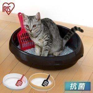 猫 トイレ ネコのトイレ P-NE390 アイリスオーヤマ くろ・三毛・白 ペット用 猫用 ネコトイレ 本体 猫用トイレ用品 おしゃれ おすすめ 人気 あすつく