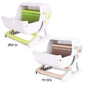 猫トイレ 半自動 掃除がしやすい おしゃれ ネコ トイレ 猫用トイレ 固まる猫砂用 猫トイレ 用品 SunRuck SR-ACT01 nyanko