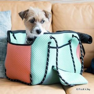 ペット 猫 犬 キャリー キャリーバッグ 旅行 おでかけ 全3色 ネオプレーンスクエアキャリー 73R003 ライフライク (D)(B) ウェットスーツ生地|nyanko