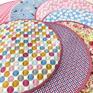 猫 ネコ ねこ キャット マット ベッド キルティング 丸型 円形 手作り ( 丸マット  大)