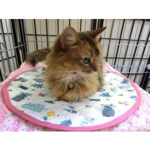 猫 ネコ ねこ キャット マット ベッド キルティング 丸型 円形 手作り ( 丸マット ナイロンキルト 大) nyanpakusengen