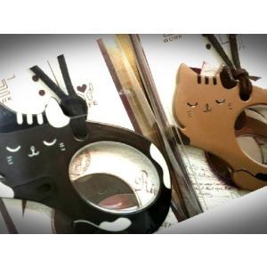 猫 ネコ ねこ キャット ルーペ 老眼鏡 拡大鏡 ペンダント 猫柄  (猫型ルーペ)|nyanpakusengen