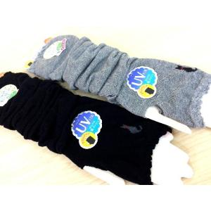 猫 ネコ ねこ キャット 手袋 日焼け防止 メッシュ入り UVカット アームカバー 猫柄 (裏メッシュ猫柄UVカットアームカバー)|nyanpakusengen