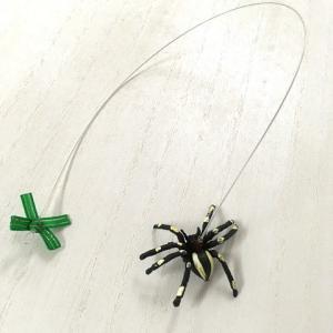 猫 ネコ ねこ じゃらし ジャラシ おもちゃ 付け替え 棒なし 手作り フェイク クモ 虫 (付替じゃらしスパイダー)(1185)|nyanpakusengen