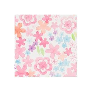 ラッピング包装紙 ウォーター★花柄(カラーフラワー) nyanya