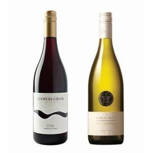 【ギフト用】クーパーズクリーク赤ワイン白ワイン2本組・ホークスベイシラー&ライムワークスシャルドネ nzwine