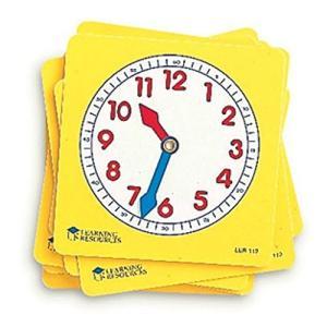 ラーニング リソーシズ(Learning Resources)  学習時計 プラスチック 生徒用 10枚セット 10cm LER 0112 o-k-you