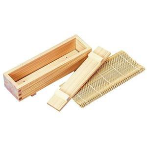 ヤマコー 巻き寿司セット 綺麗に巻ける 木枠:約26×7.5×H5.5cm、巻きす:約24&times o-k-you
