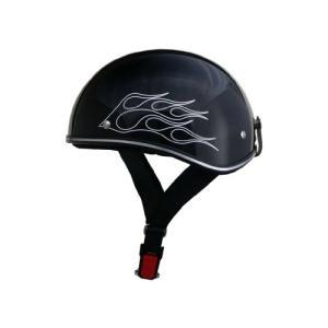 リード工業 バイクヘルメット ハーフ D-356 アメリカンビンテージ ブラックフレア フリー 57~60cm未満|o-k-you