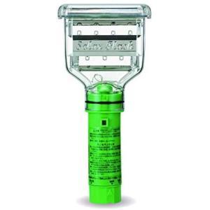 ミツギロン 鳥獣害 対策 アニマル フラッシュ グリーン 11.5×4.5×24cm LED ライト 点滅 野|o-k-you