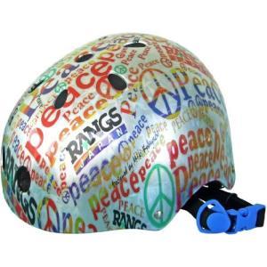 ラングスジャパン(RANGS) アクティブスポーツヘルメット ピース レッド o-k-you