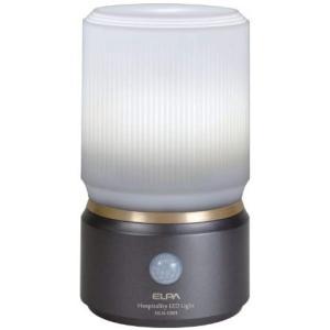 ELPA センサーライト もてなしのあかり 乾電池式 玄関・お庭・リビングにおすすめ 外でも使える防雨形 3W白色LED HLH-1201(DB) o-k-you