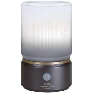 ELPA センサーライト もてなしのあかり 乾電池式 玄関・お庭・リビングにおすすめ 外でも使える防雨形 6W白色LED HLH-1202(DB) o-k-you