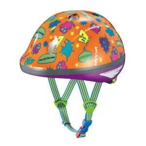 OGK KABUTO(オージーケーカブト) チャイルドメット PEACH KIDS モンスターオレンジ サイズ:47-51cm 幼児用 o-k-you