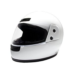 B&B フルフェイスヘルメット ホワイト BB100|o-k-you