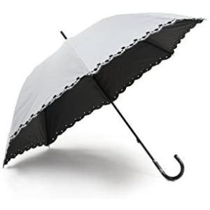 晴雨兼用 日傘 UVカット 紫外線遮蔽率99% 生地裏カラーコーティング 裾にオシャレな刺繍加工 50cm 手開き傘(白) o-k-you