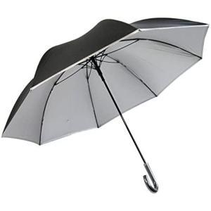 日光を遮断 晴雨兼用 日傘 ひっくり返っても元通り Lサイズ 大きめ直径約120cmの耐風骨×目立たない裏シルバー生地 UV99% o-k-you